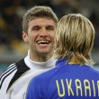 Thomas Muller and Anatoliy Tymoshchuk - Stock Photo