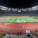Panoramic view of Olympic stadium (NSC Olimpiysky) in Kyiv — Stock Photo