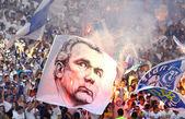 Kibiców drużyny fc dynamo kijów pokazać swoje poparcie — Zdjęcie stockowe