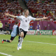 Постер, плакат: Lars Bender of Germany reacts after he scored against Denmark