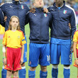 Stock Photo: Leonardo Bonucci, Antonio Cassano and Mario Balotelli from Italy