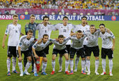Germany national football team pose for a group photo — Stock Photo