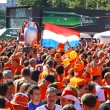 Holland football team supporters walk on a street of Kharkiv — Stock Photo #11462224