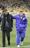 Oliver Bierhoff and Andriy Shevchenko — Stock Photo