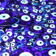 Traditional turkish eye-shaped amulets (nazar boncugu) - Stock Photo