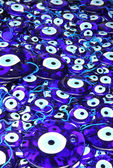 Traditional turkish eye-shaped amulets (nazar boncugu) — Stock Photo
