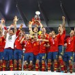 Spain - the winner of UEFA EURO 2012 - Stock Photo