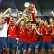 Royalty-Free Stock Photo: Spain national football team celebrates their winning of the UEF
