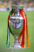 UEFA EURO 2012 Football Trophy (Cup) — Stock Photo
