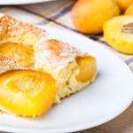 Apricot sponge cake — Stock Photo #11039782