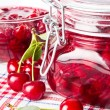 Cherry jam — Stock Photo