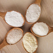 Types of flour — Stock Photo