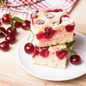 Kiraz kek — Stok fotoğraf