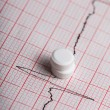 Cardiogram and nitroglycerin — Stock Photo