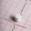 Cardiogram and nitroglycerin - Stock Photo
