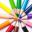 Stock Photo: Rainbow color pencils