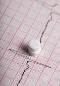 Cardiogram and nitroglycerin — Stock Photo