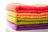 Stack towels isolated — Stock Photo