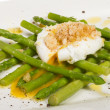 Fresh salad with asparagus,eggs and croutons - Stock Photo