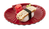 Tamago (Omelet) sushi — Stock Photo