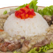 Stock Photo: Rice and pork japanese style