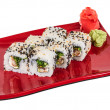 Japanese traditional Cuisine - Maki Roll with Nori , Cream Chees — Stock Photo #11621078