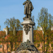 Stock Photo: Warsaw, capital city of Poland. Monument of Adam Mickiewicz, the