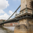 Chain Bridge of Budapest, Hungary — Stock Photo