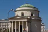 Saint Alexander church in Warsaw — Stock Photo