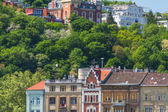Typical buildings 19th-century in Buda Castle district of Budapest — Stock Photo