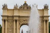 勃兰登堡门从波茨坦,柏林,德国 — 图库照片