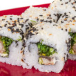 Japanese traditional Cuisine - Maki Roll with Nori , Cream Cheese and Eel. — Stock Photo