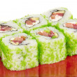 Tobiko Spicy Maki Sushi — Stock Photo