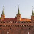 Gate to Krakow - best preserved barbicin Europe, Poland — Stock Photo #11958305