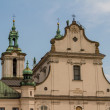 Cathedral in old town of Cracow - Stock Photo