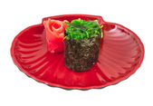 Japanese fresh maki sushi with green seaweed Chuka — ストック写真