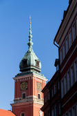 Warsaw, Poland. Old Town - famous Royal Castle. UNESCO World Heritage Site — Stock Photo