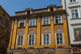 Beautiful facade of old town house in Krakow, Poland — Stock Photo