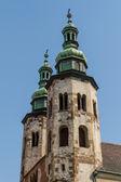 Romanesque church of St Andrew tower in Krakow built between 107 — Zdjęcie stockowe
