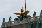 Heldenplatz in the Hofburg complex, Vienna, Austria — Stock Photo