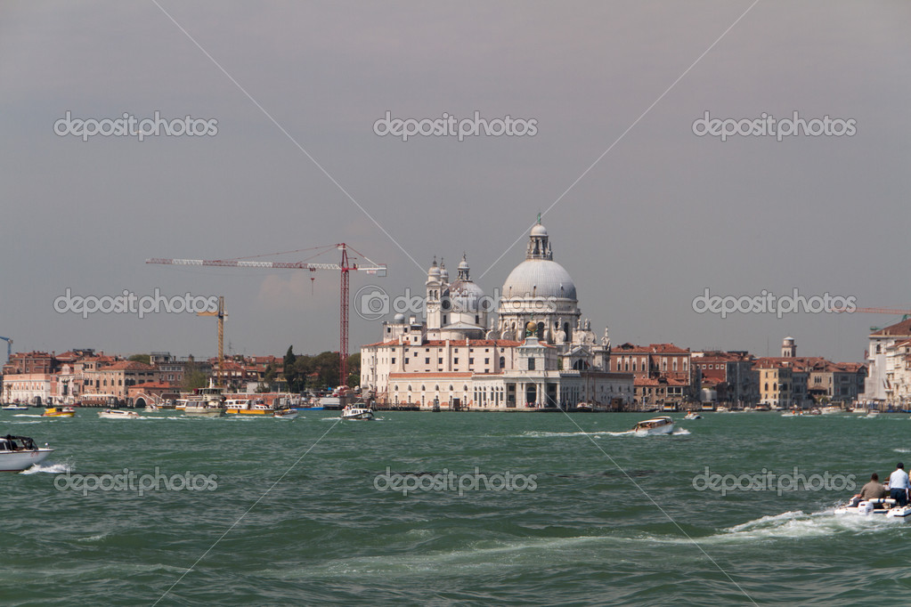 The Basilica Santa Maria della Salute in Venice  Stock Photo #11959955