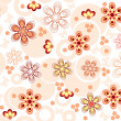 Seamless flowers background — Stock Vector