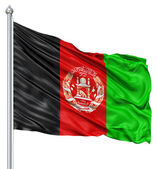 Waving flag of Afghanistan — Stock Photo