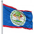 Waving flag of Belize — Stock Photo