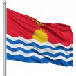 Stock Photo: Waving flag of Kribati