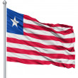 Waving flag of Liberia — Stock Photo #11031487