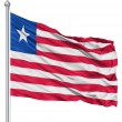 Waving flag of Liberia — Stock Photo