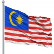 Waving flag of Malaysia — Stock Photo