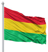 Waving flag of Bolivia — Stock Photo