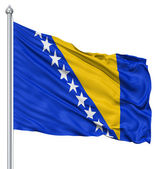 Waving flag of Bosnia and Herzegovina — Stock Photo